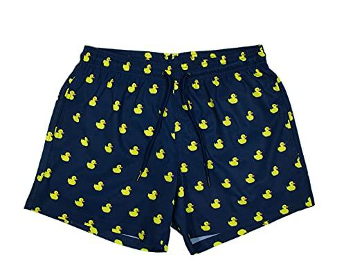 Roits Costume Uomo Mare Fantasia – Pantaloncini da Bagno Asciugatura Rapida con Stampe Spiaggia - Anatroccoli S