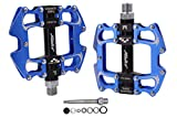 JGbike PD-XM521 Bicycle Cycling Bike Pedals,Lightweight Non-Slip Platform Pedals,Sealed 3 Bearing Flat Pedals