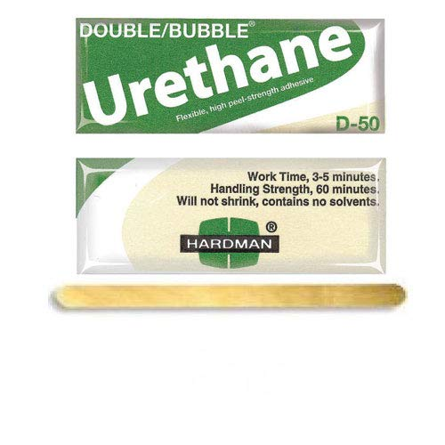 Hardman/Kalex #04022 - Double Bubble Urethane Adhesive Green/Beige-Label D50 High Shear Strength - 25-Pack