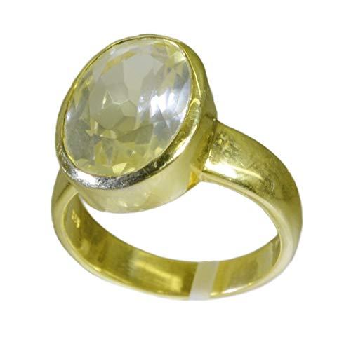 riyo in der Regel 925 Sterling Silber Brillante echte gelbe Ring Geschenk 63 (20.1)