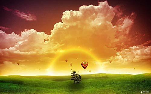 Pussel pussel 1 000 stycken ängland varmluftsballong solnedgång landskap barn pedagogisk leksak heminredning i