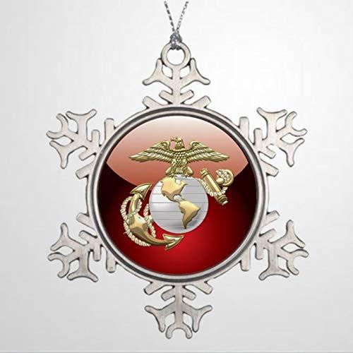BYRON HOYLE Xmas Trees Decorated USMC Eagle Globe Anchor EGA 3D Family Ornament Christmas Snowflake Ornaments Xmas Decor Wedding Ornament Holiday Present