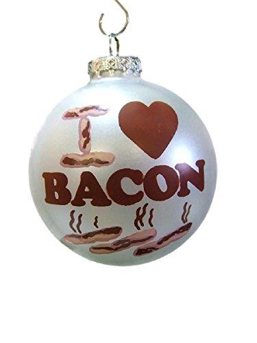 On Holiday New Glass I Love Bacon Bulb Food Breakfast Dinner Christmas Tree Ornament