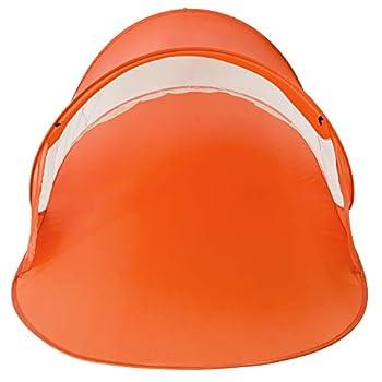 TecTake Tente abri de Plage auvent Pop up Protection UV 245x145x95cm avec Sac de Transport - diverses Couleurs au Choix - (Orange| no. 401679)