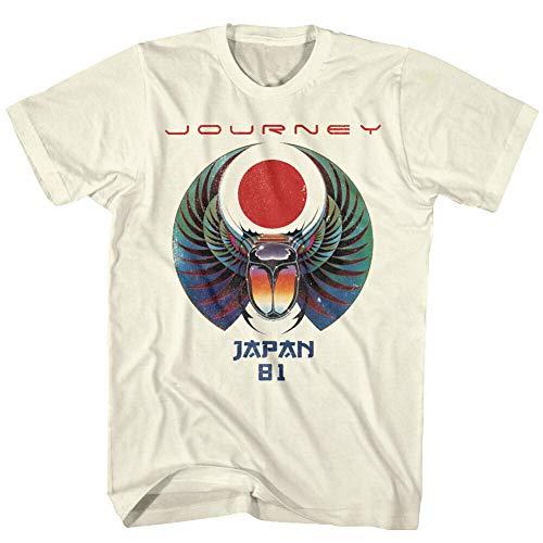 Journey Japan Captured Album Tour 1981 Mens T Shirt Scarab Rock Band Concert