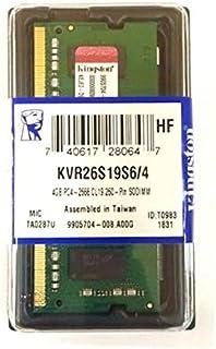 ذاكرة عشوائية دي دي آر 4 , 8 جيجابايت 2666 ميغا هيرتز متوافقة مع اللابتوب من كينجستون- KVR26S19S8/8