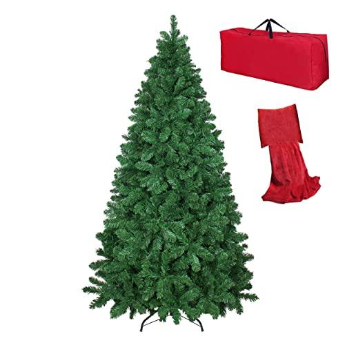 Totò Piccinni Albero di Natale Artificiale NOEL, Folto, Effetto Realistico, Rami a Gancio, Facile Montaggio, PVC, Ignifugo con Borsone (180 cm, Verde)