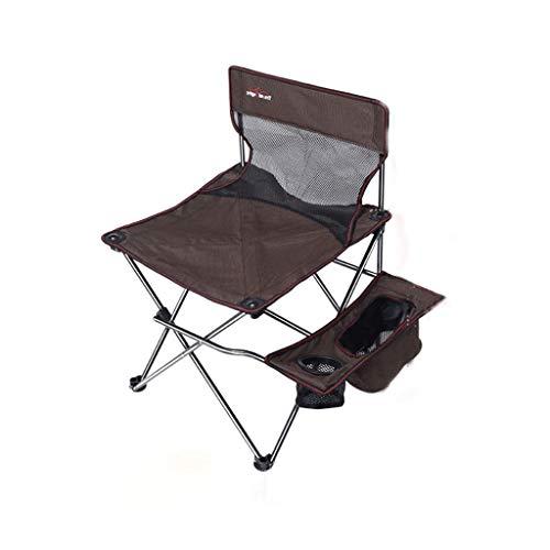 MKJYDM Outdoor Klappstuhl Camping Grill Stuhl Strand Bank Freizeit Stuhl Skizze Stuhl Angeln Stuhl 47x47x74cm Klappstuhl