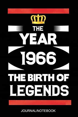 The Year 1966 The Birth Of Legends: A5 notizbuch 54 Jahre Geschenkidee, geburtstag geschenk 54, Schönes Liniertes Notizbuch 54 geburtstag ideen Für Frauen Männer Geboren 1966, 54 Jahre geschenk