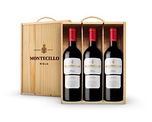 Vino Tinto D.O. Rioja Montecillo Crianza - estuche de madera de 3 botellas de 75 cl - Total: 225 cl