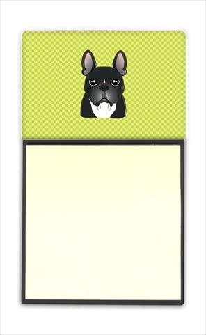Checkerboard Lime Green French Bulldog Refiillable 35% OFF Max 71% OFF Sticky H Note