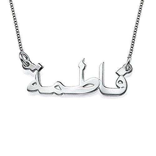 Gepersonaliseerde Arabische Naam Ketting in Sterling Zilver 925 - Ketting met Naam Hanger - Op maat gemaakt met Naam!