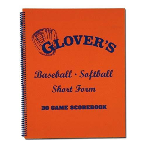 Glover's Scorebooks Short Form Baseball/Softball Scorebook (30 Games)