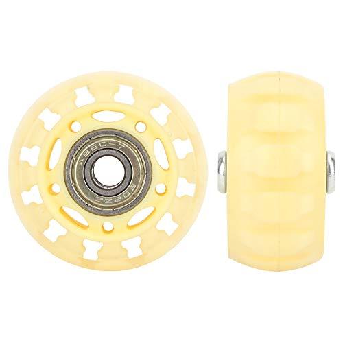 SHENYUAN Serie Industrial 2 Pulgadas PU Castor Funcionamiento silencioso 8 mm Diámetro Transparente Caster con 608ZZ de Carrito de Equipaje Caster Transparente