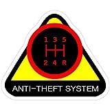 Vijk kor Lot de 3 Autocollants pour système antivol Motif 1 Noir