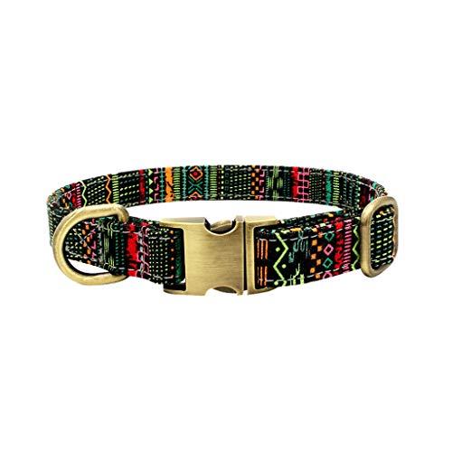 Sylar Collares para Perros, Collares para Gatos,Collares De Adiestramiento Ajustable con Hebilla De Aleación, Perro Cinturón De Seguridad Acolchado Collar con Hebilla De Acero para Perros Medianos
