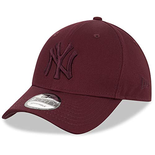 New Era York Yankees Cap 9forty Snapback Verstellbar Basecap MLB Kappe Baseball Weinrot - One-Size