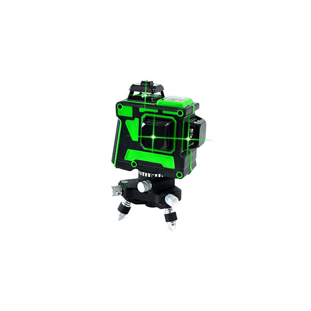 3d 12 lignes lumière verte niveau laser ligne verticale horizontale croix haute précision étanche auto-équilibrage…