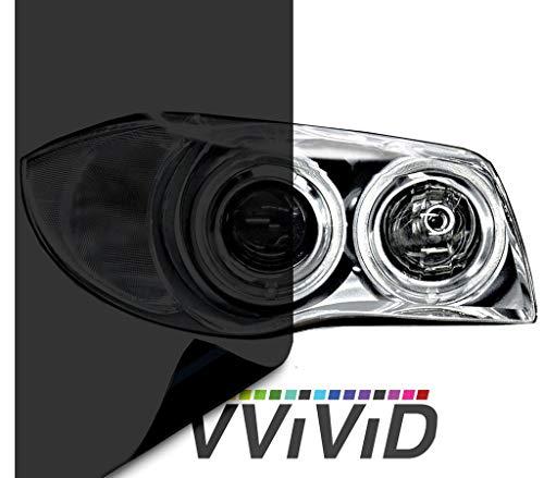 VViViD Extra-Wide Headlight Taillight Vinyl Tint Wrap 16 Inch x 60 Inch Roll (Dark Smoke 16 Inch x 60 Inch)