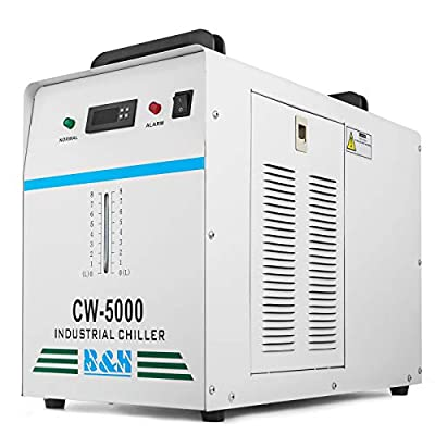 BestEquip 800W Industrial Chiller CW5000DG 6L Capacity Water Chiller Thermolysis Industrial Water Chiller Machine for 80 to 100W CO2 Glass Tube (CW5000DG 800W 6L Capacity)