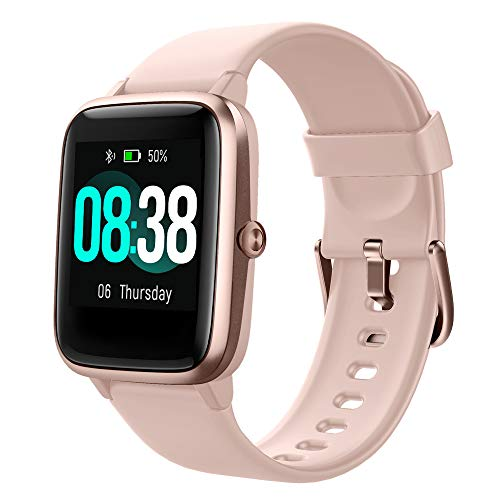 Smartwatch, YONMIG Orologio Sportivo Fitness Tracker Donna Uomo, Impermeabile IP68 Touchscreen Smart Watch, Activity Tracker Cardiofrequenzimetro da Polso Contapassi Cronometro per Android Ios Rosa