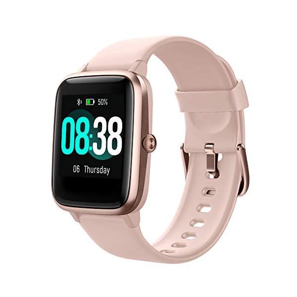 YONMIG Reloj Inteligente Mujer y Hombre, Smartwatch Impermeable IP68 Pulsera Actividad Deportivo con Monitor de Sueño… 2