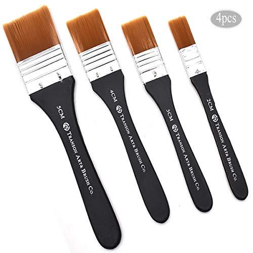 Pennello legno,Yueser Manico in Legno Utilizzati per Pittura Acrilica Colori ad Acqua Vernice Pittura Tessuto-Perfetto Mobili,Pittura Muri