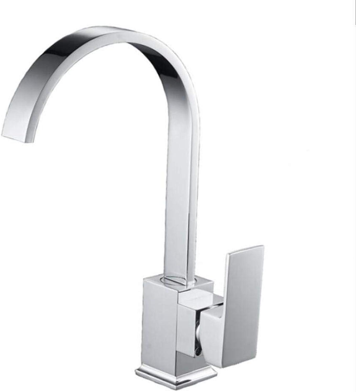 Wasserhahn Küchenarmatur Küchenarmatur Chrom Messing Deck Waschbecken Wasserhahn 360 Grad Drehwirbel Kalt Heimischer Wasserhahn