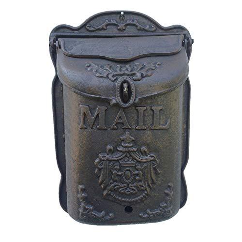 Liuxiaomiao Brievenbus Retro Little Angel Mailbox Wand Grote gietijzeren brievenbus voor brievenzegels kranten voor meervoudige bezorging van brieven