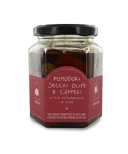 La Nicchia Pantelleria - Tomates Secos, Aceitunas y Alcaparras en Aceite de...