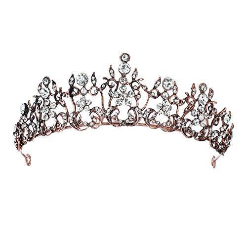 QAZWSX Hochzeitskrone Haarschmuck Retro Barock Stil Brautkrone einfache Haarschmuck Kopfschmuck Kopfschmuck Prinzessin Königin Diadem Erwachsener