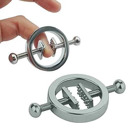 Órtesis nípplè de acero inoxidable Para corrección femenina - Tensión ajustable.