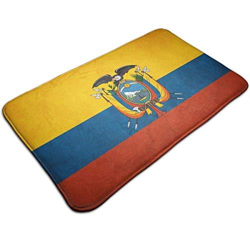 N\A Alfombrillas para Puertas Interiores al Aire Libre Bandera de Ecuador Alfombras Antideslizantes Lavables Área de Entrada Alfombras Felpudos