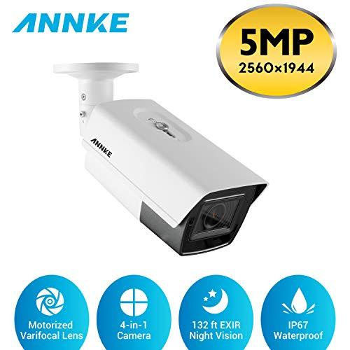 ANNKE Cámara de vigilancia 5MP Super HD 5X Zoom Óptico y Lente Varifocal Motorizada (2.7-13.5 mm) Cámara de Videovigilancia de Seguridad 4 en 1 con EXIR Visión Nocturna 132 Pies