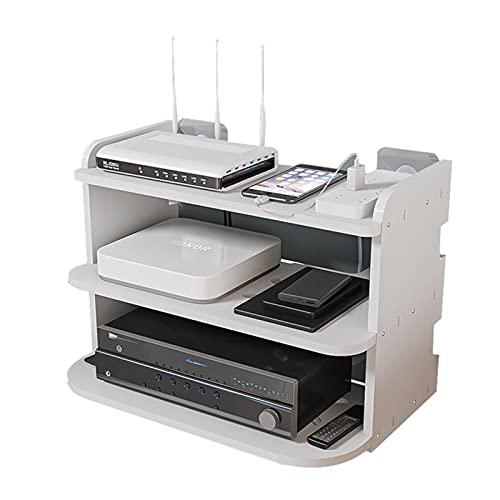 IPOUJ Caja de Almacenamiento de Caja de Ruta de enrutador Punch Gratis Caja de Almacenamiento Caja de Almacenamiento WiFi Caja de Estar Soporte de enrutador de Alambre de
