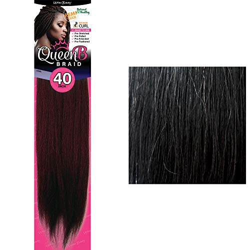 Queen B Braid (Pre-Stretched) 40 inches (#1 (Jet Black))