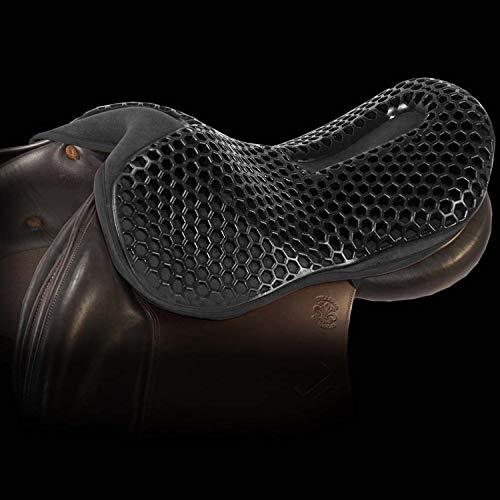 Acavallo Coussin de selle Jump Gel Ortho Coccyx - Couleur : noir - Taille : L