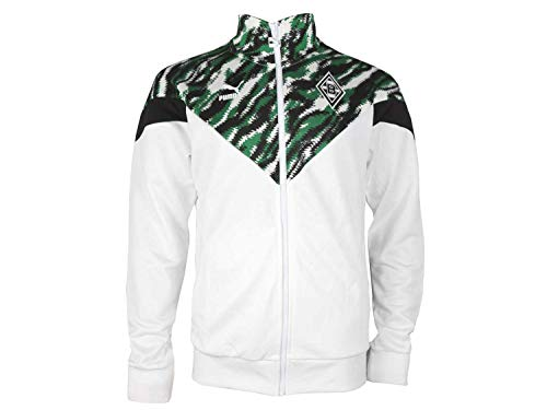 Puma Borussia Mönchengladbach MCS Graphic Iconic Track Jacket weiß BMG Jacke, Größe:L