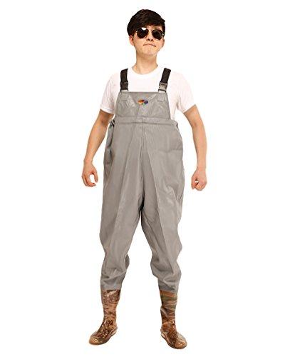 Xinwcang Profesional Pantalón de Pesca PVC Impermeable Vadeador Botas Altas Antideslizante Waders Pesca como la Imagen2 41