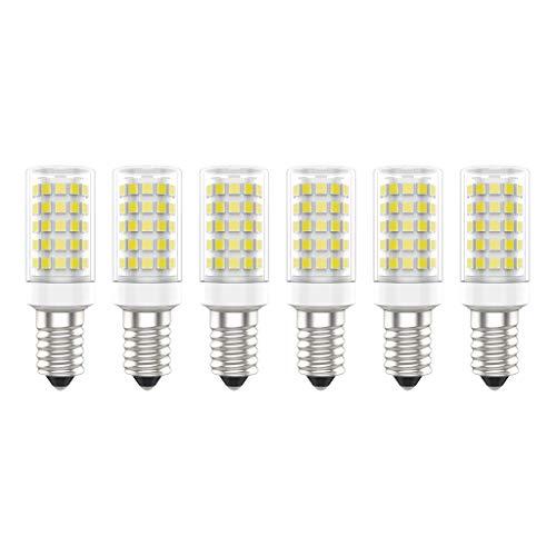 Bombillas LED E14, 7W (Equivalente a 70W), Blanco Frío (6000K), AC220-240V, Sin Parpadeos, No Regulable, 700 Lúmenes, CRI>80, Paquete de 6 - (Blanco Frío, 7W)