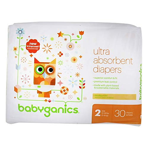 Babyganics Ultra Absorbent Baby Diapers (Size 2 (30 Count))