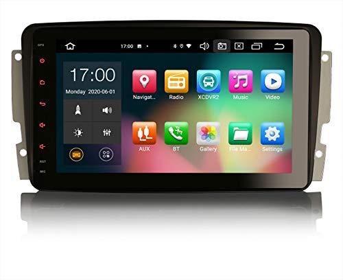 ERISIN 8 Pulgadas Android 10.0 Autoradio para Mercedes Benz C/CLK/Clase G W203 W209 W463 Viano y Vito Soporte GPS Sat Nav Carplay Android Auto DSP Bluetooth WiFi Dab + TPMS 8-Core 4GB RAM + 64GB ROM