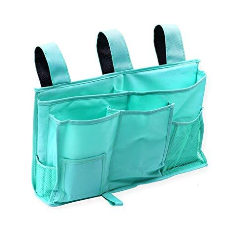 E EBETA Bett Tasche Bett Organizer Hochbett Aufbewahrungstasche für Buch, Magazin, Spielzeug, Handy, Kopfhörer (Grün)