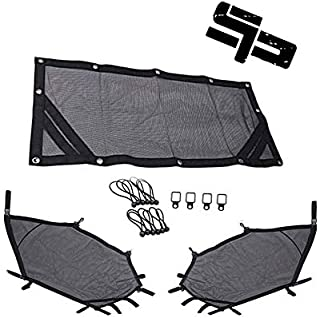 UTV Window Net Roll Cage Mesh Guard Front and Rear Window Shield Net for a RZR 1000 XP 900 S 1000 S Turbo with Stock Cage and Factory Doors