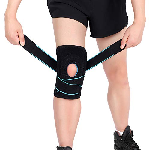 Knee Support for Arthritic Knees, Knee Compression Brace with Side Stabilizers, Open-patella Stabiliser for Meniscus Tear, Sports Injury Rehabilitation And Protection, Arthritis, Joint Pain Relief