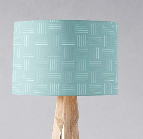 Blau-weiß gestreifter Lampenschirm