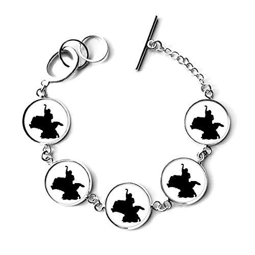 Dancer Duet Dance Art Performance Bracelet Chain Charm Bangle Jewelry