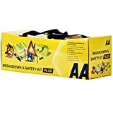 AA Vehicle Breakdown Safety Kit Plus AA5618 – Tyre Inflator, Warning Triangle, Tow Rope, Hi-Vis Vest, Torch, Glass Hammer, Booster Cables, Storage Bag