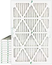 20x30x1 MERV 10 Pleated Air Filters for AC and Furnace. 12 PACK. Actual Size: 19-5/8 x 29-5/8 x 7/8