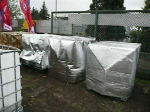 Hofer24 winterfeste IBC Frostschutzhaube, Thermohülle, Thermohaube für Wassertank, Regenwassertank 1000 Liter